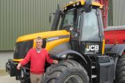 The man behind Forage Aid, Andrew Ward with the JCB