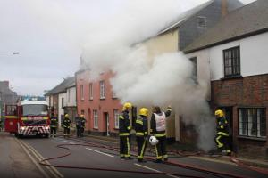 UPDATE: Fire crews called to a property in Church Street, Wiveliscombe