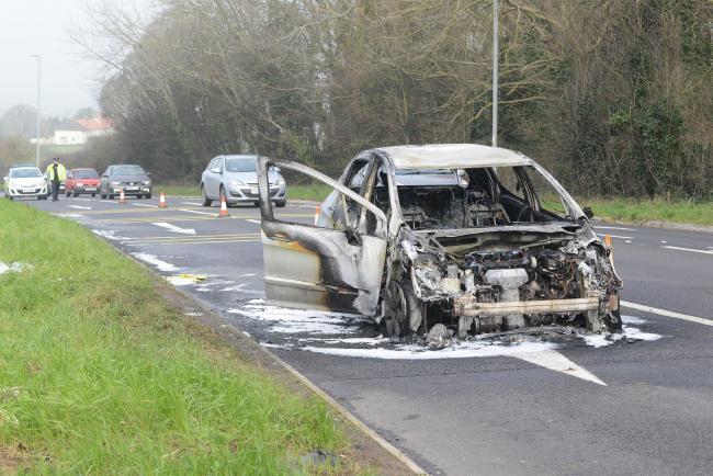 PHOTOS: Car burnt out in Thornfalcon blaze