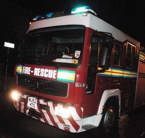 Fire crews rush to scene after reports of car alight in Taunton road