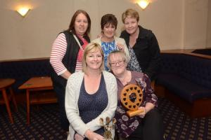 Taunton women's darts players receive trophies