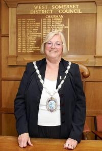 The new chairman of West Somerset Council, Cllr Jenny Hill