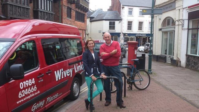 WIVEY LINK: MP Rebecca Pow visits Wivey Link Community Transport Service in Wiveliscombe