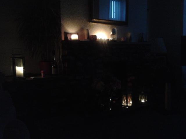 Dark Living Room At Night power surge plunges tiverton into night of sparks, fires and
