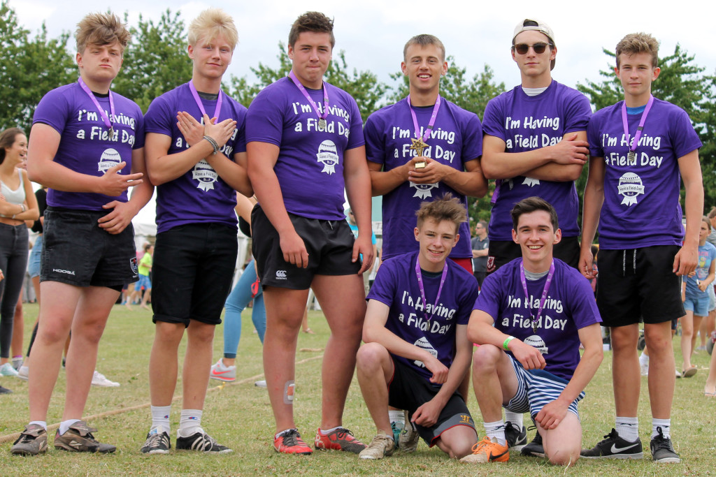 PARTY IN THE PARK: The winning Tug of War team at this year's event