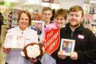 BACK OUR APPEAL: Karen Ham and Theresa Torr from the Salvation Army with Matt Jones and Jordan Eckley from Superdrug