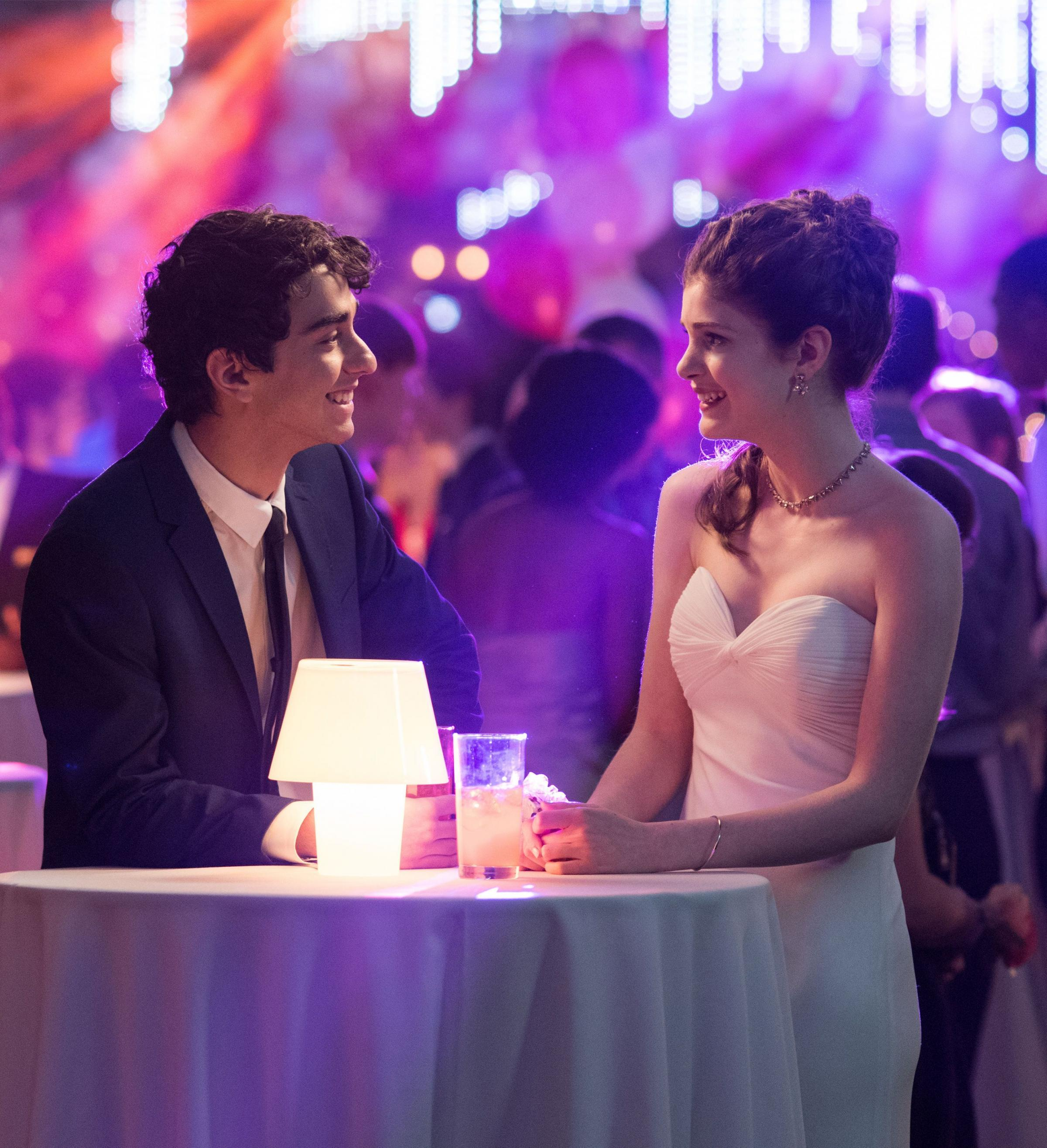 Love is in the air - Alex Wolff and Elena Kampouris. (PA Photo/Universal Pictures)
