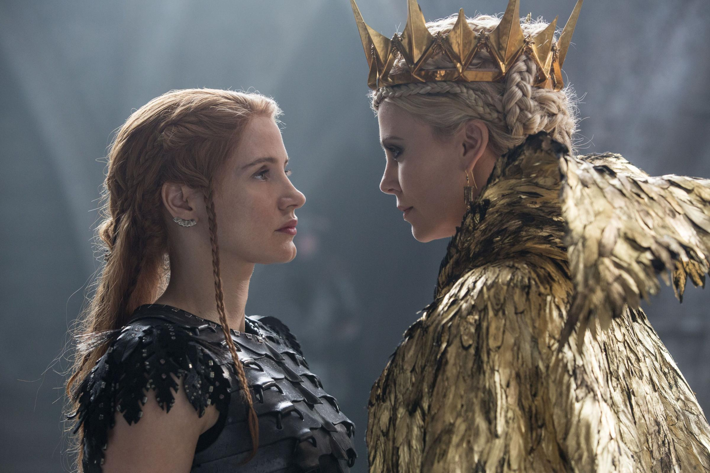 Looking cool - Charlize Theron and Jessica Chastain in The Huntsman (PA Photo/Giles Keyte/Universal)