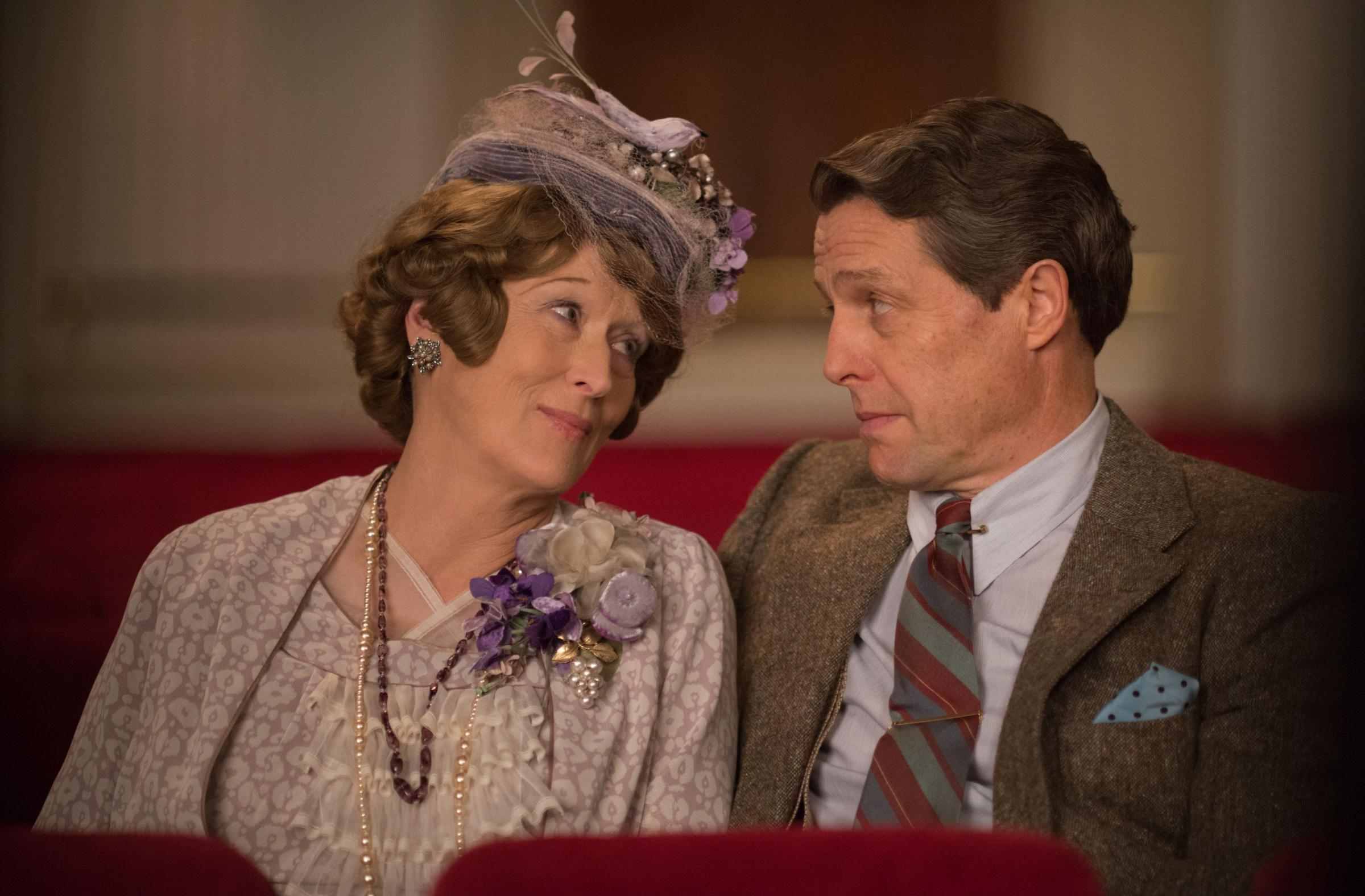 MUSICAL COUPLE: Meryl Streep as Florence and Hugh Grant as St Clair