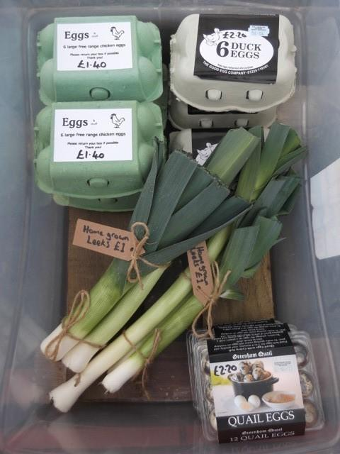 Somerset County Gazette: Customers were asked to leave money in the honesty box for produce taken