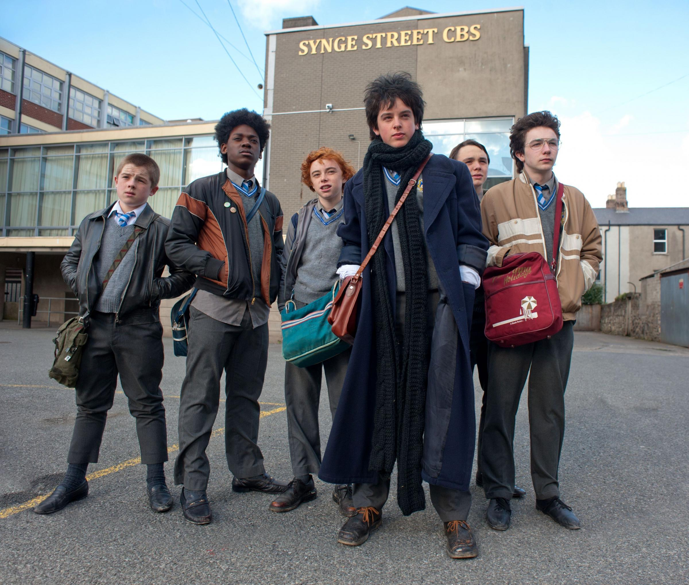 SINGING A HAPPY SONG: the boys from Sing Street.