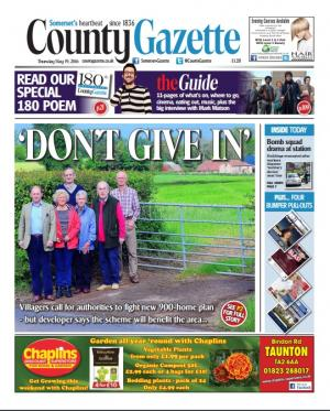 Somerset County Gazette: Opposition to proposals for 915 homes on farmland between Staplegrove and Kingston St Mary