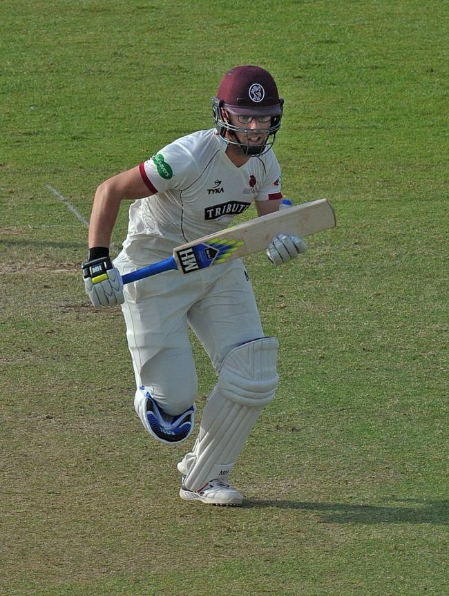 VITAL: Jack Leach made a match-saving half century for Somerset on the final day against Lancashire. Pic: SCCC