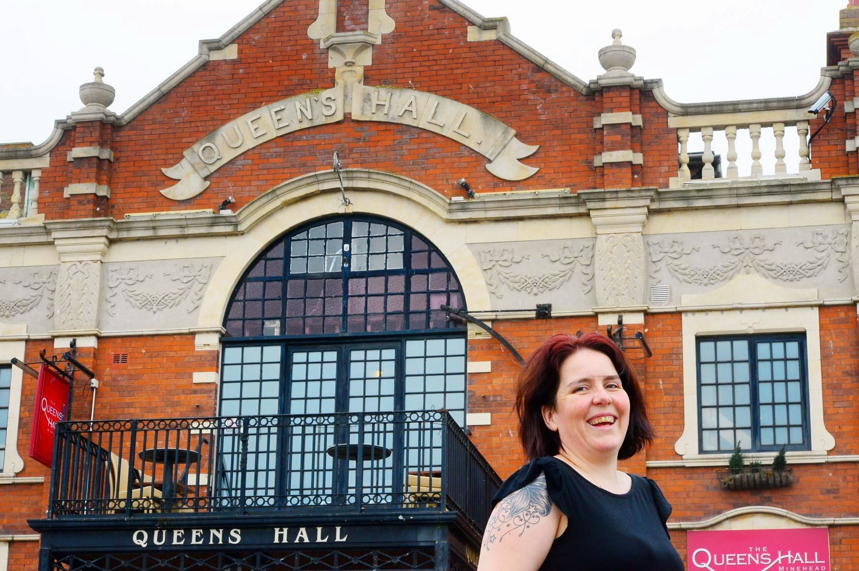 EXCITING: Owner Claire Stuman outside the newly re-opened Queen's Hall