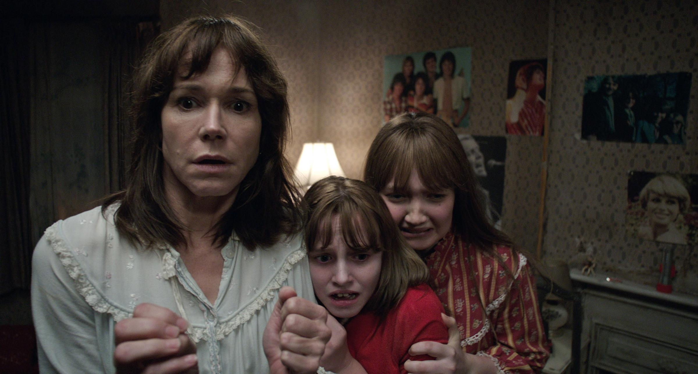 IT'S BEHIND YOU: Family fright time in The Conjuring 2.