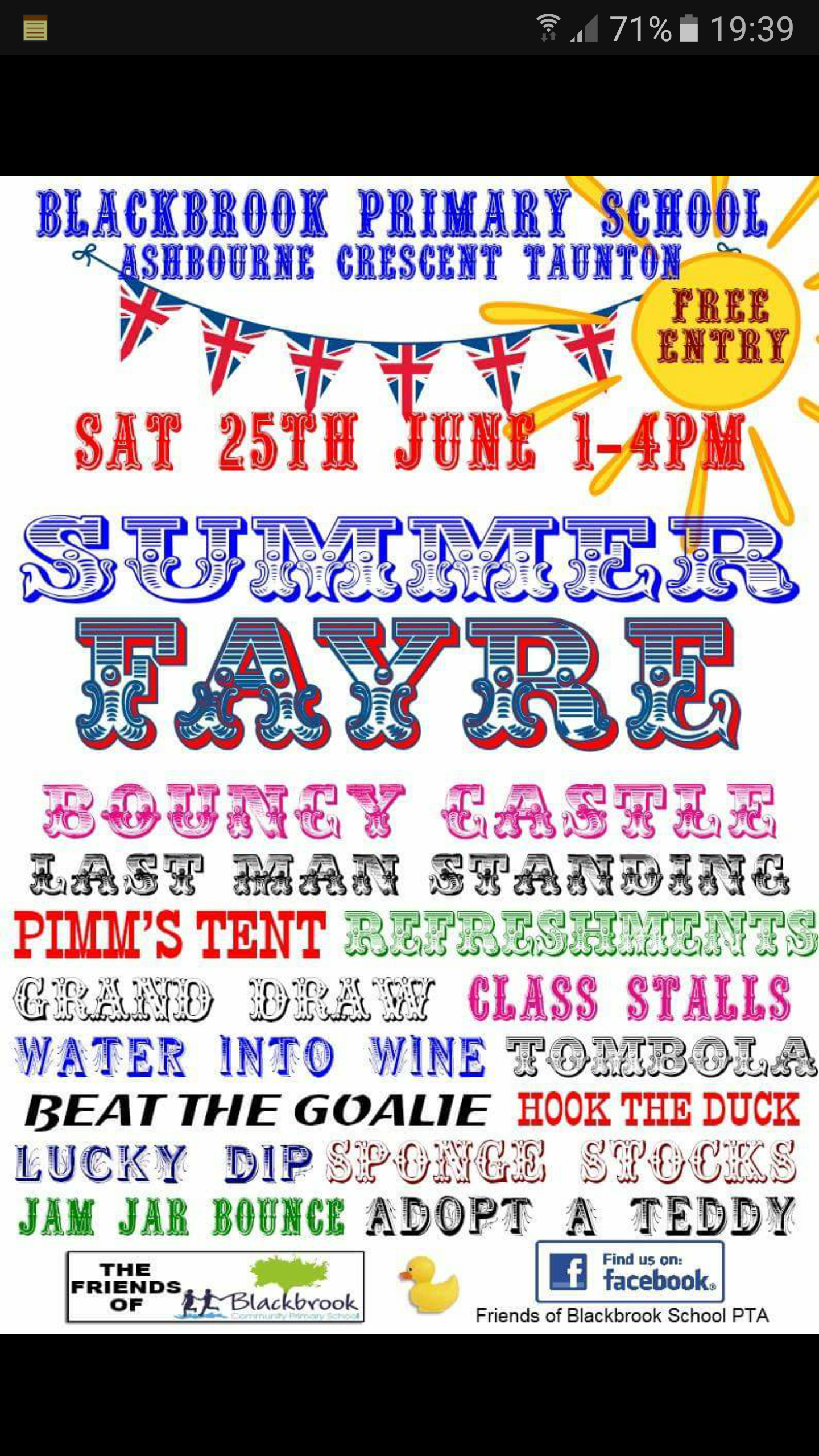 Blackbrook School Summer Fayre