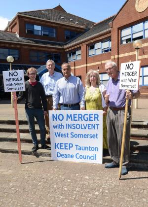 Somerset County Gazette: 'MERGER MOST FOUL': Anger over plan to merge Taunton Deane and West Somerset councils