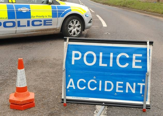 CRASH: The collision occured shortly before 6pm on Saturday evening