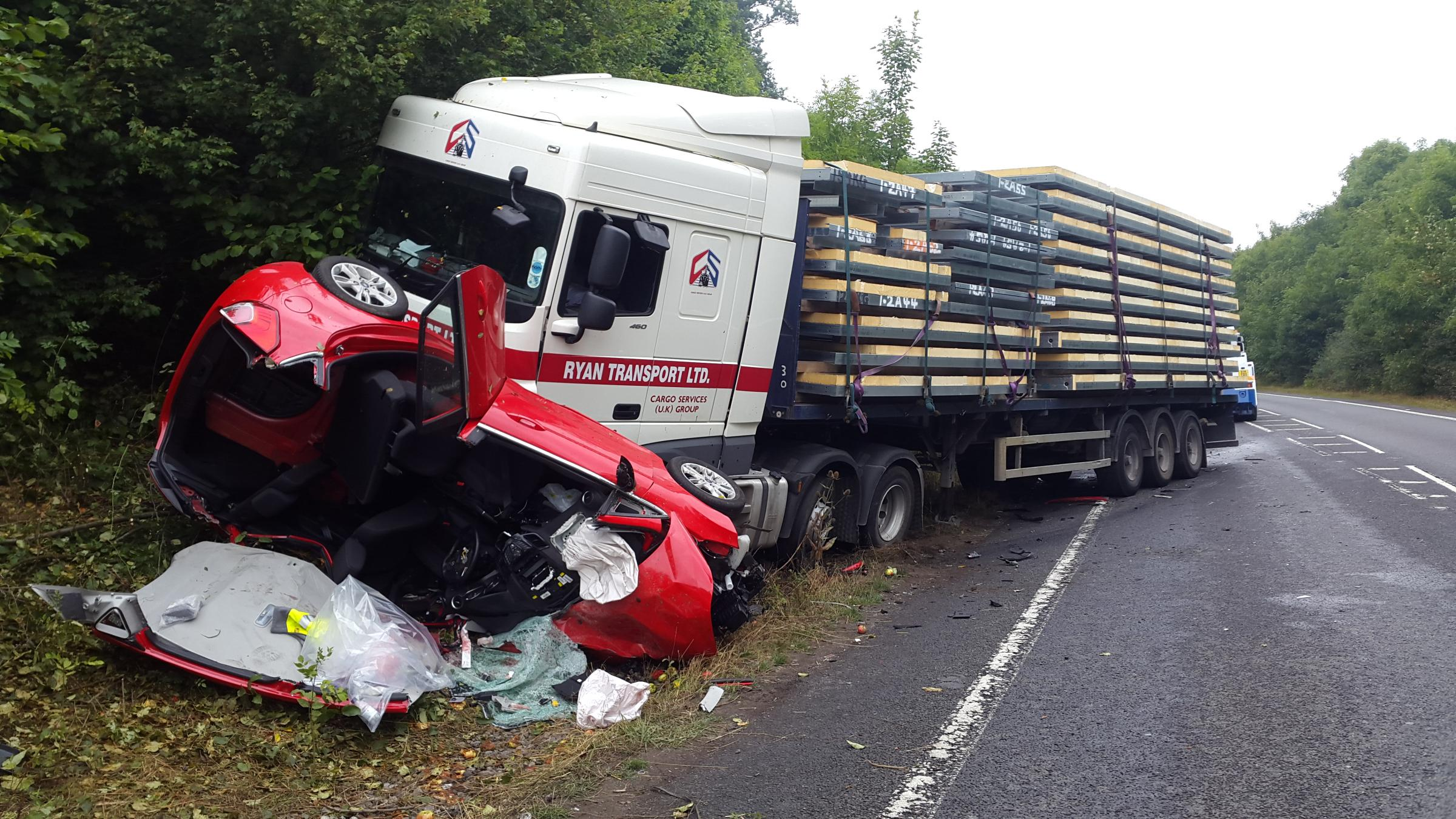 UPDATED A358 reopened as man in serious but stable condition after