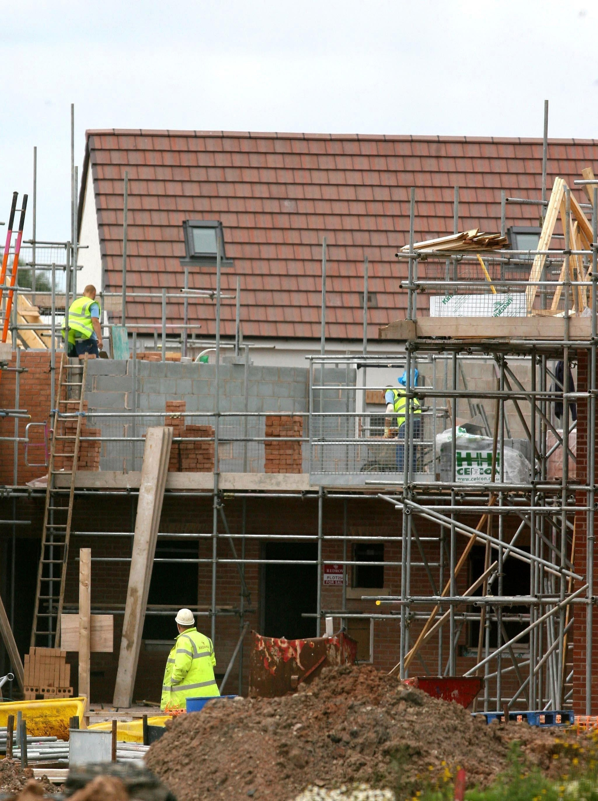 BUILDING: New homes are being built around the county. PICTURE: Peter Byrne/PA Wire