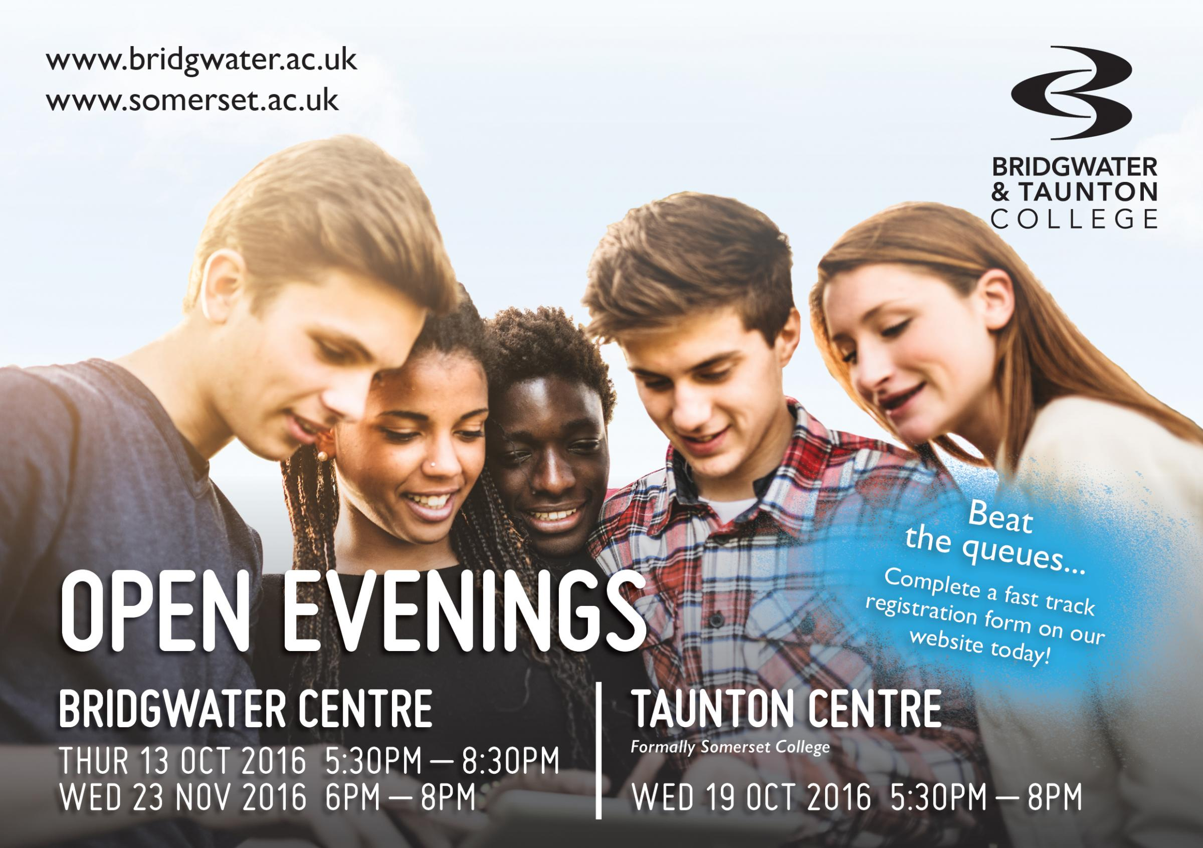 Bridgwater and Taunton College Open Evening