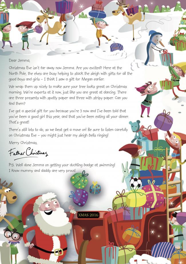 Nspcc sending letters from santa to children across somerset letter nspcc is sending letters from santa to children across somerset spiritdancerdesigns Image collections