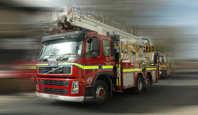 RESCUE: Firefighters headed to Barn Meads Road