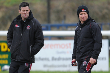 CONFIDENT: Tony Yapp (right) is backing his Taunton Titans side to rediscover their form.