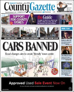 Somerset County Gazette: CARS BANNED: Pedestrianisation plan revealed for Taunton town centre