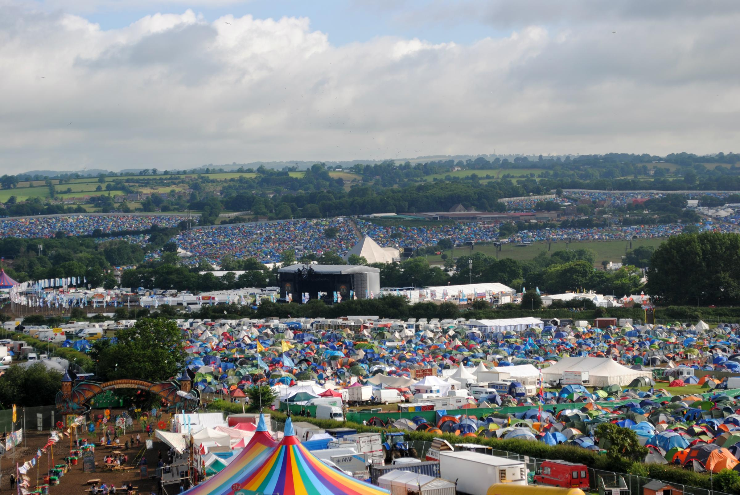 Map images show how big Glastonbury Festival is compared to Taunton
