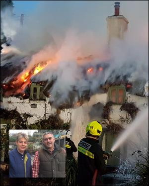 Somerset County Gazette: Pub owners vow to restore landmark pub to former glory after devastating fire