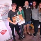 Somerset County Gazette: WINNERS: Last year's competition winners, She Drew The Gun, with Michael Eavis