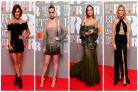 Stars show plenty of skin in glitzy red carpet outfits at the Brit Awards