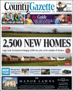 Somerset County Gazette: 2,500 HOMES PLAN: Town 'not ready' for development