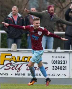 Somerset County Gazette: SPORT: Taunton Town stroll into cup semi-final