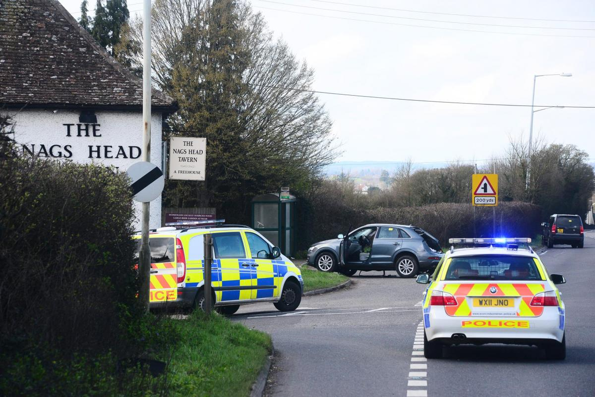 A358 between Taunton and Thornfalcon closed and two people taken to Musgrove Park Hospital after crash