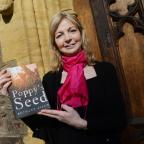 Somerset County Gazette: Author Bethany Askew with her book Poppy's Seed. Taunton.