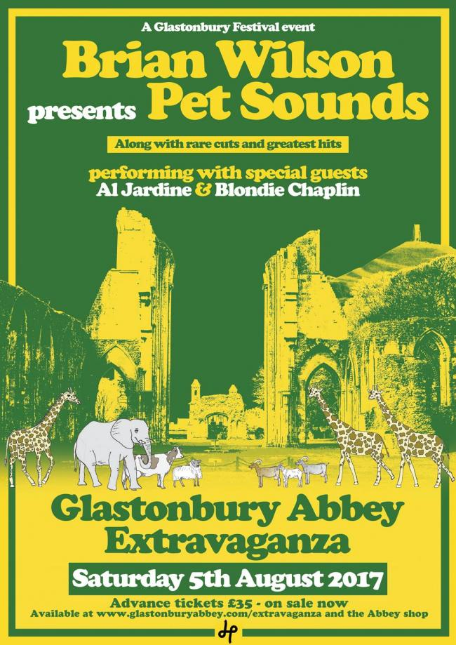 BILL: Brian Wilson will perform Pet Sounds at the Glastonbury Extravaganza