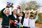 COMPETITION: Beech Grove pupils from Wellington made egg vehicles
