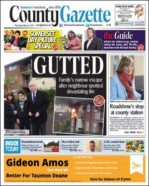 Somerset County Gazette: GUTTED: Mum speaks of horror as fire ravages her beloved home