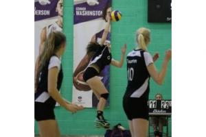 SMASH: Taunton captain Georgia McGovern in action at the Under-15s national finals