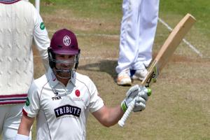 HIGH SCORE: Dean Elgar's half-century was a lonely highlight for Somerset on day three against Hampshire. Pic: Alain Lockyer/Somerset CCC