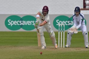 HIGHLIGHT: Dean Elgar was the only Somerset player to score a half-century in a poor batting performance against Hampshire. Pic: Alain Lockyer/Somerset CCC