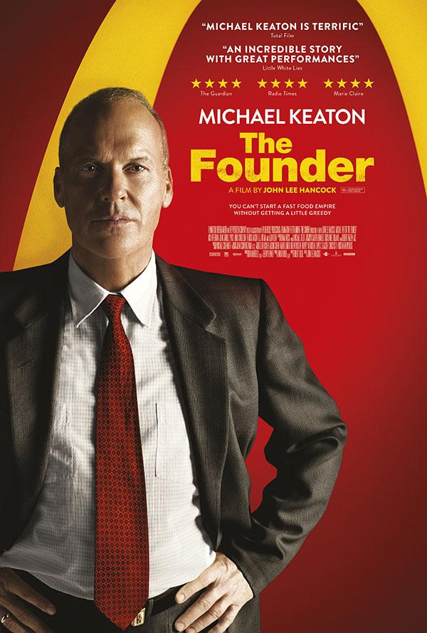 Michael Keaton is ahead of the game and coming down the curve at 150 mph in The Founder