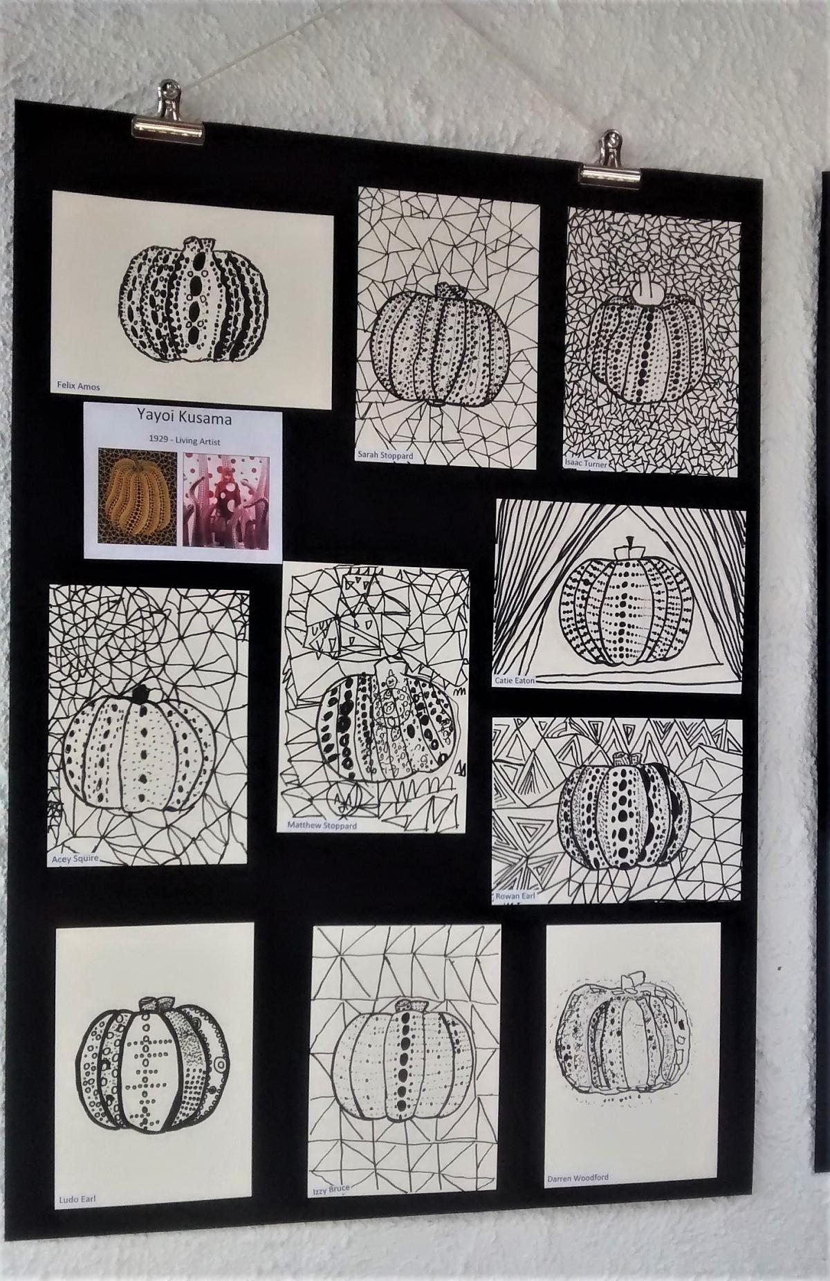 Taunton Home Education Pupils Open Art Exhibit In Pizza