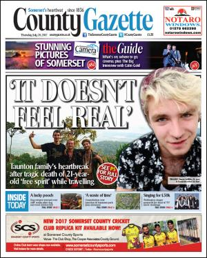 Somerset County Gazette: TRAGEDY: Family's heartbreak as 21-year-old dies in Cambodia