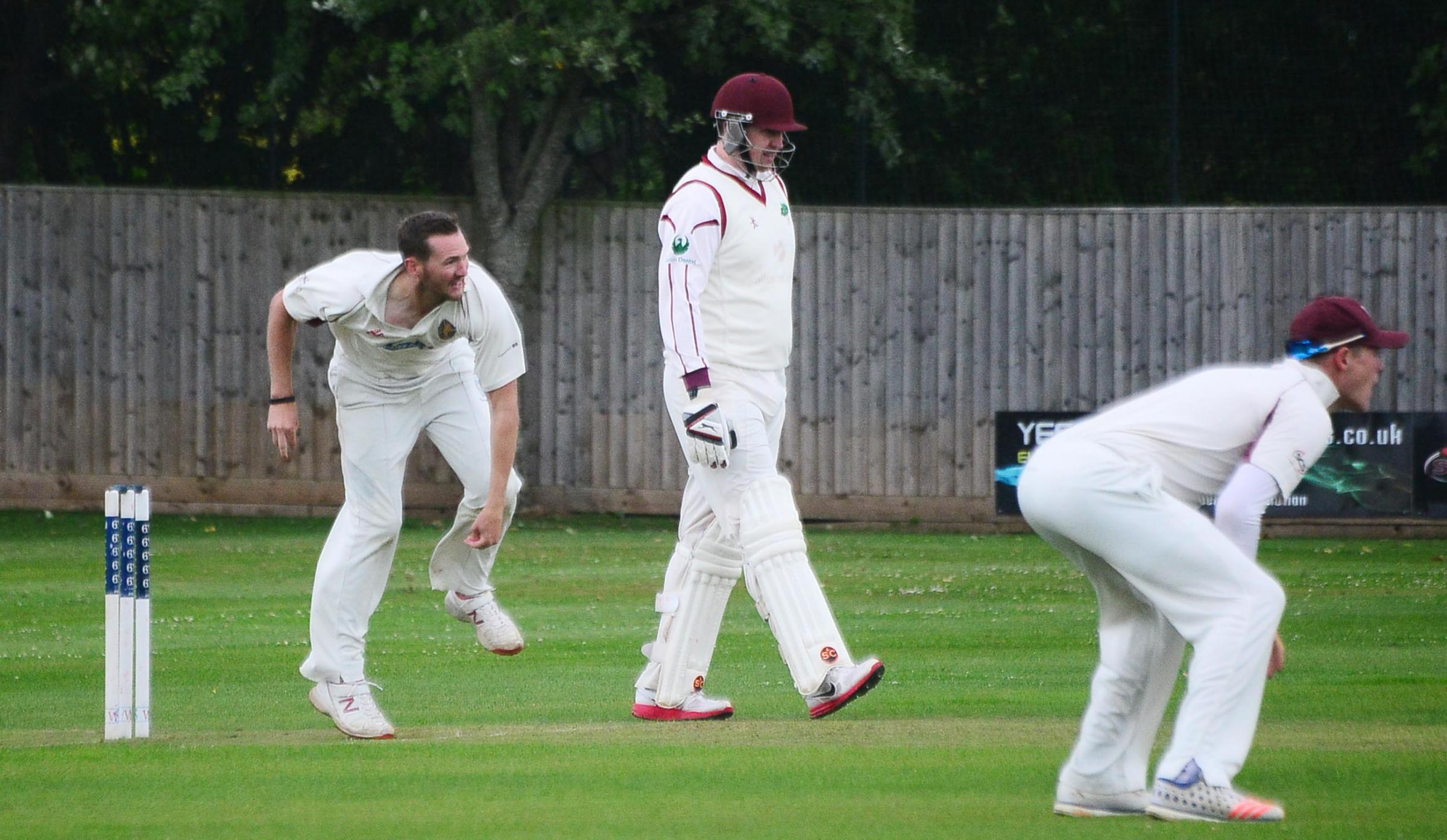 ACTION: Lloyd Alley (left) took 2-26 for Taunton St Andrew's in their victory over Shapwick & Polden on Saturday.