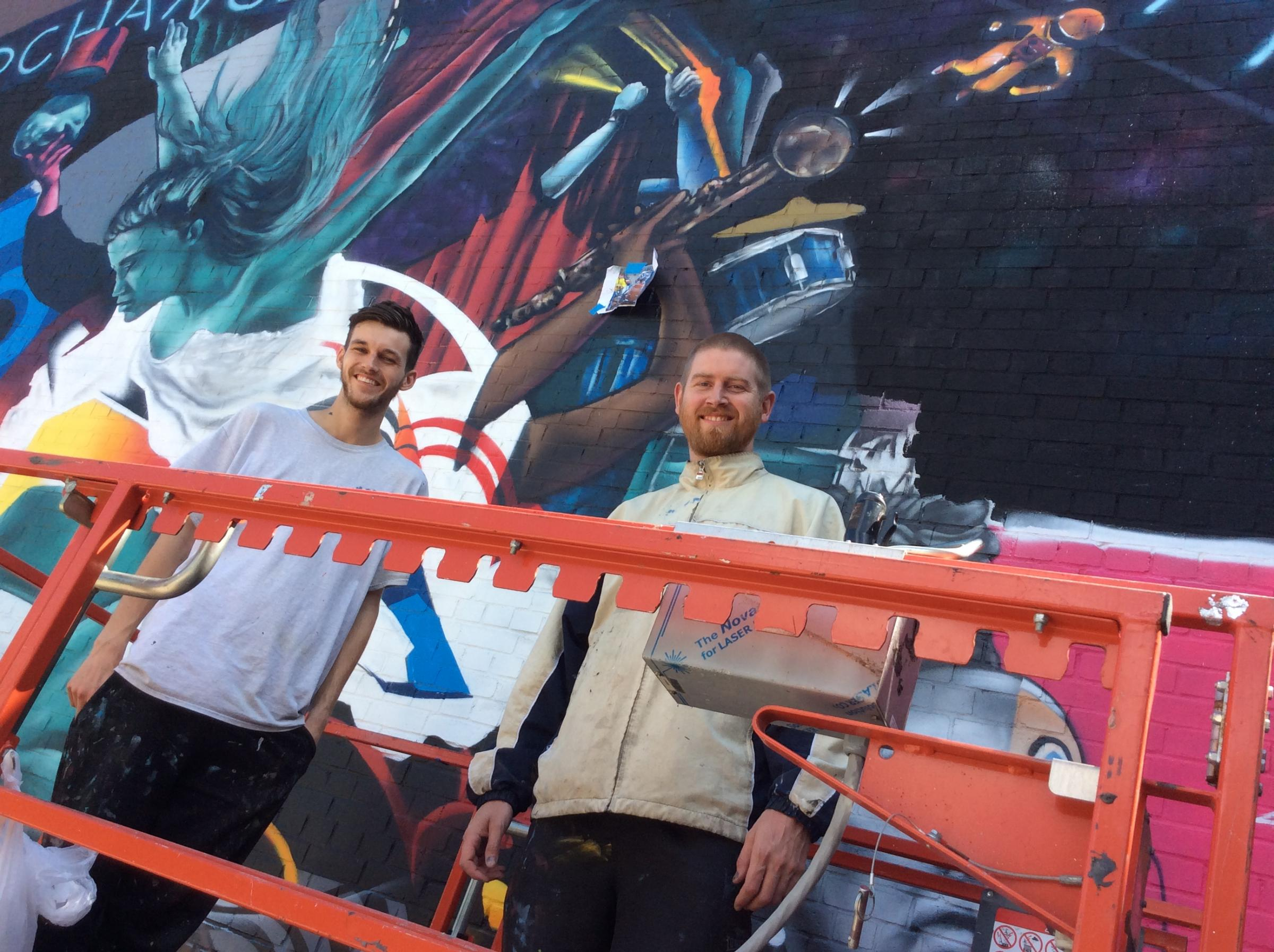 The paint has dried on a mural entitled Perchance to Dream to celebrate the Brewhouse Theatre's 40th birthday
