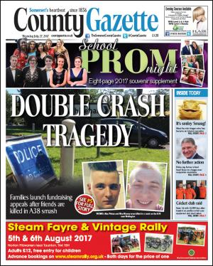 Somerset County Gazette: CRASH TRAGEDY: Appeals launched after friends died in A38 smash