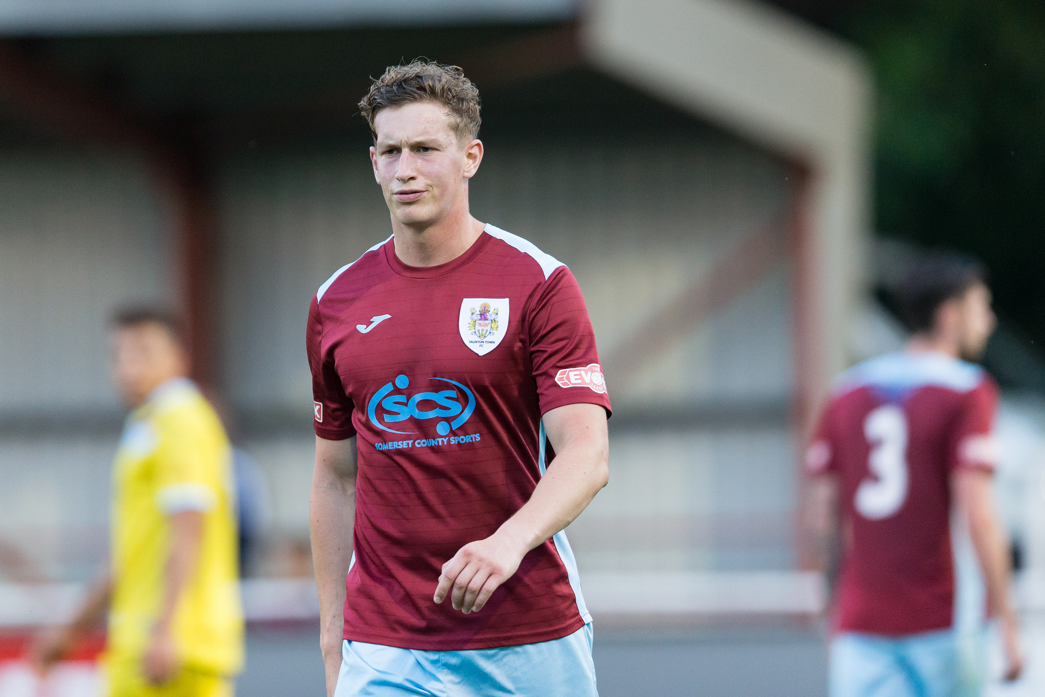 OFF: Ben Adelsbury was one of two Taunton Town players to be sent off at Salisbury. Pic: Tim Norbury